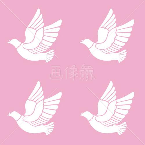 ピンクの鳥のパターンタイル模様 画像衆デザインを簡単レベルアップ