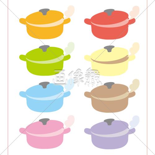 鍋のイラスト 画像衆デザインを簡単レベルアップ写真模様