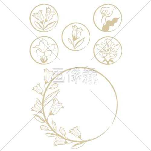 手書き風の花の4イラスト 画像衆デザインを簡単レベルアップ写真