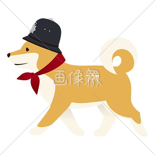 パトロール犬のイラストアイコン素材4 画像衆デザインを簡単