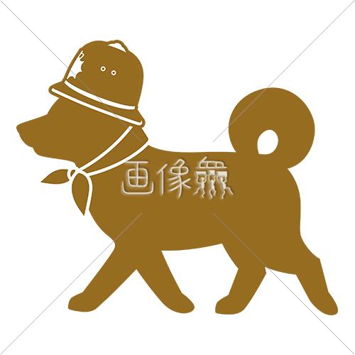 パトロール犬のイラストアイコン素材6 画像衆デザインを簡単
