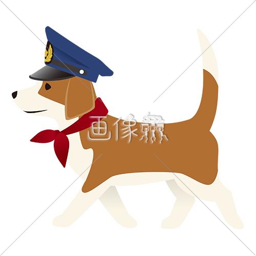 パトロール犬のイラストアイコン素材8 画像衆デザインを簡単