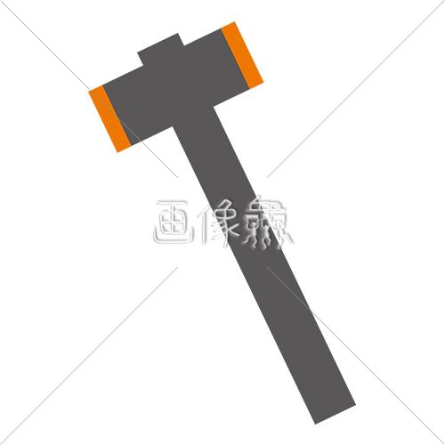 金槌のイラストアイコン素材1 画像衆デザインを簡単レベルアップ