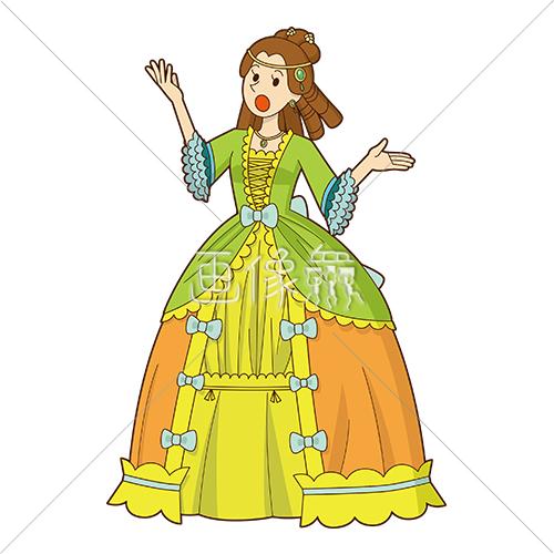オペラを歌っている女の人1 画像衆デザインを簡単レベルアップ