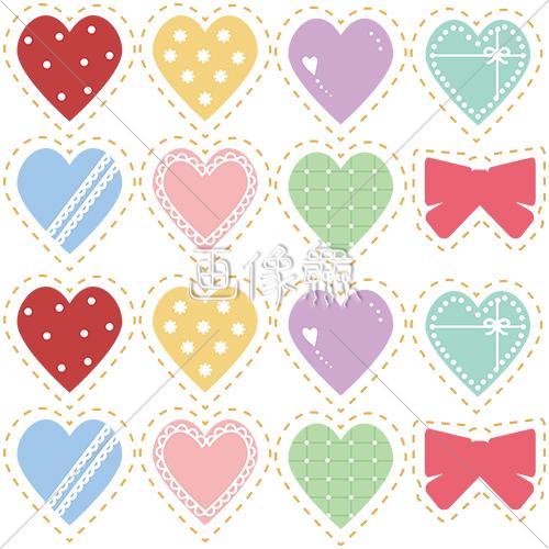バレンタインのハート柄シームレス模様素材 画像衆デザインを簡単